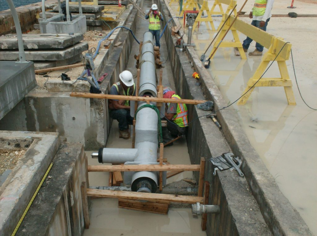 U S Naval Base Guam Pre Insulated Pipe Thermal Pipe